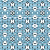 stock photo of six-petaled  - geometric blue seamless pattern design - JPG
