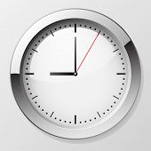 pic of clocks  - Classic wall clock with pointers at 9 o - JPG