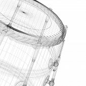 picture of congas  - Djembe Drum Groove body structure wire model - JPG