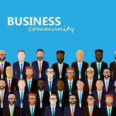 picture of politician  - vector flat  illustration of business or politics community - JPG