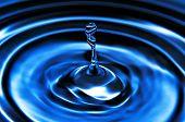 foto of meteoric rain  - Blue Water Drop Splashing with Wave Rings - JPG