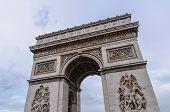 foto of charles de gaulle  - Arch de Triomphe in the city of Paris France - JPG