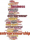foto of entrepreneurship  - Entrepreneurship word cloud concept - JPG