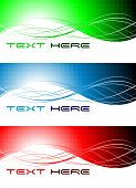 image of octahedron  - Set of three abstract wavy banners for your design - JPG