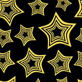 picture of hypnotizing  - Hypnotic yellow and black stars against a dark background - JPG