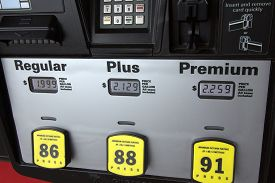 image of truck-stop  - Low Gas Prices at the Pump - JPG