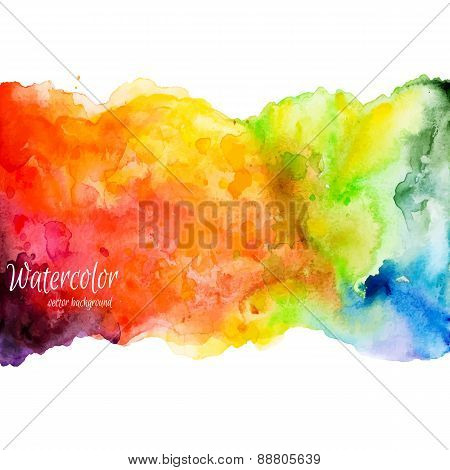 Abstract hand drawn watercolor background,vector representation.