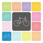 stock photo of dirt-bike  - Bike Icon color set vector illustration  - JPG
