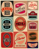 pic of drawing beer  - Beer menu design with retro beer labels - JPG