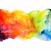 stock photo of purple white  - Abstract hand drawn watercolor background - JPG