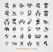 stock photo of insurance-policy  - Set insurance icons - JPG