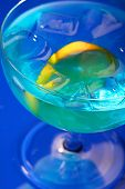 picture of curacao  - Close up of blue curacao - JPG