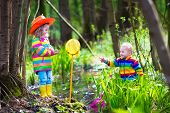 stock photo of wild adventure  - Children playing outdoors - JPG