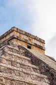 stock photo of yucatan  - Close up Chichen Itza Mayan Pyramid Yucatan Mexico - JPG