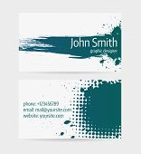 stock photo of dark side  - Business card template  - JPG