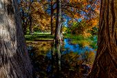 foto of guadalupe  - Rest Amid the Beautiful Fall Foliage on the Guadalupe River - JPG