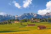 picture of bavarian alps  - Landscape of Bavarian and Alpine Alps in Germany - JPG