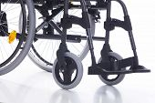 stock photo of rollator  - part of a wheelchair on a white background - JPG