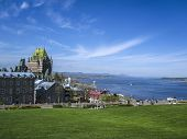 Постер, плакат: View of old Quebec and the Chateau Frontenac Canada