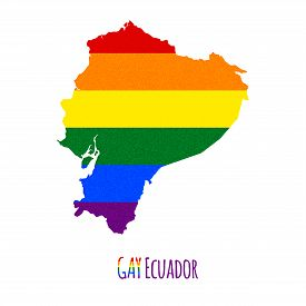 pic of bisexual  - Vector map of Ecuador in LGBT  - JPG