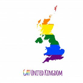 picture of bisexual  - Vector map of United Kingdom in LGBT  - JPG