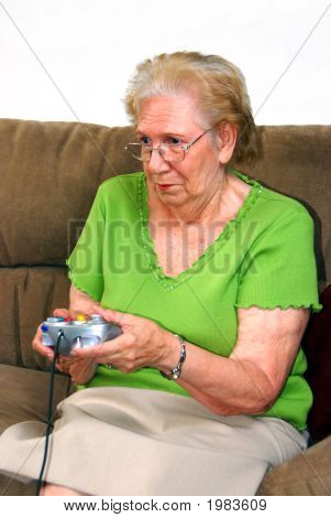 poster of Grandmother Playing Video Game