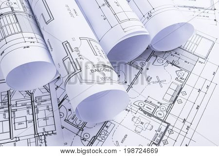 House blueprints blue print style floor plans on architects desk house blueprints blue print style floor plans on architects desk blueprint of a house from a malvernweather Gallery