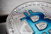 Silver Bitcoin Coin poster
