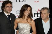 HOLLYWOOD, CA. - NOVEMBER 3: (L-R) Kirk Jones, Kate Beckinsale, & Robert De Niro attend the AFI Fest