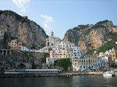 Amalfi Town From Ferry poster