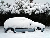 A car under the snow