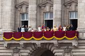 LONDON, UK - APRIL 29: The royal family appears on Buckingham Palace balcony at Prince William and K