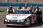 AVONDALE, AZ - NOV 7 -  David Ragan's (6) pit cew pushes his car at the NASCAR Nationwide Series rac