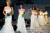 SCOTTSDALE, AZ - NOV 7: Destiny's Bride formal and bridal fashion collection shown at Scottsdale Fas