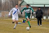 KAPOSVAR, HUNGARY - MARCH 5: Krisztian Kirchner (6) in action at the Hungarian National Championship