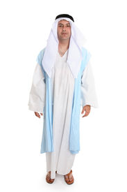 stock photo of arab man  - Man in ancient clothing reminiscent that worn of biblical times - JPG