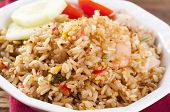 picture of nasi  - Nasi Goreng with shrimps and Egg - JPG