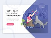 Modern Flat Design Concept Of Web Page Design For Pet Stores, Pet Consults Website. Illustration Of  poster