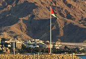 Giant Flag in the Middle East, Aqaba, Jordan