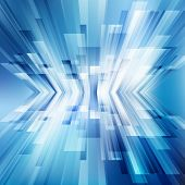 Abstract Geometric Diagonal Blue Lines Overlap Layer Business Shiny Motion Perspective Background Te poster
