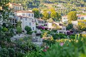 Town Tourrettes-sur-loup A Medieval Village In The Alpes, Provence France poster