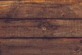 Vintage Wooden Texture Of Board. Grunge Wood Wall Pattern Of Fence. Old Wood Dark Brown Background T poster