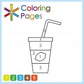 Coloring Page For Kids, Color The Parts Of The Object According To Numbers, Color By Numbers poster