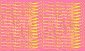 Set Color Lines Yellow Brush Stroke. Fashionable Vector Colorful Pattern With Brush Strokes.vector I poster