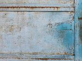 Old Torn Metal Gates, Paint Peeled Off From Metal, Background Or Concept poster