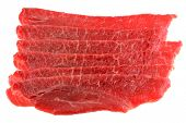 Freshly sliced Bulgogi beef to make Korean BBQ Dish
