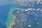 Aerial Top View Of The Bosporus Strait Entrance From The Black Sea Side Near Istanbul City In Turkey poster