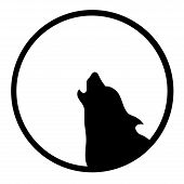 The  Logo Dog  Or Wolf For Tattoo Or T-shirt Design Or Outwear.  Cute Print Style Dog  Or Wolf  Back poster