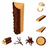 Vector Design Of Signboard  And Wood Symbol. Set Of Signboard  And Wooden Vector Icon For Stock. poster