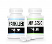 picture of paracetamol  - Illustration depicting two medication containes with the words  - JPG